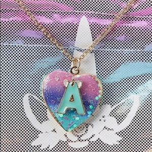 "NWT Justice Initial ""A"" Unicorn Locket"
